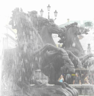 horse fountain, Moscow