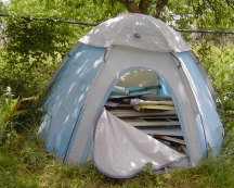 Ironing board tent