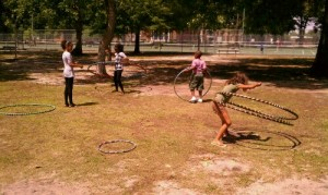 Hooping at Art in the Park