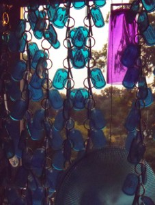keychain curtain at sunset