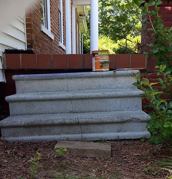 The steps as they came from Craig's List, with just a touch of purple before I remembered to take the photograph.