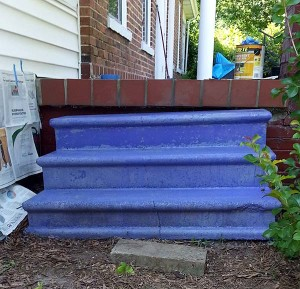 Painting Concrete Steps