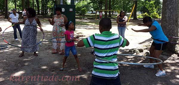 More family hooping in Herman Park, Goldsboro, NC.