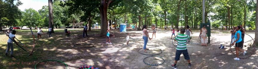 People hooping in Herman Park, Goldsboro, NC.