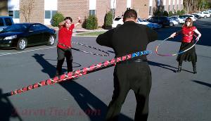 Hooping at the Team Nimbus Holiday Party, 2012.