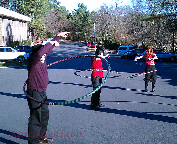 George Alwon mastering a man's hoop.