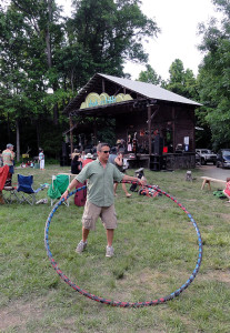 John Hogan teaches hooping at the NC Hops and Roots Festival