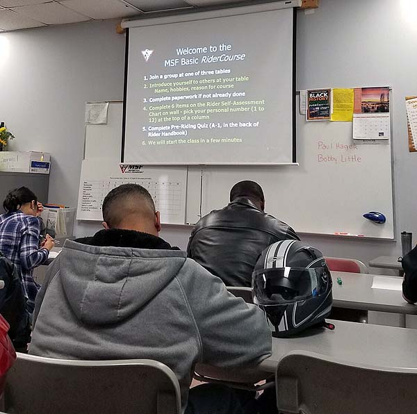Classroom introduction to the MSF BRC.