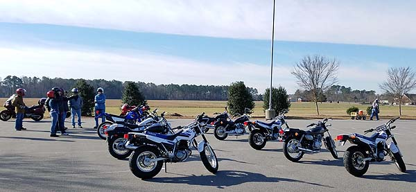 Student motorcycles at the MSF BRC.