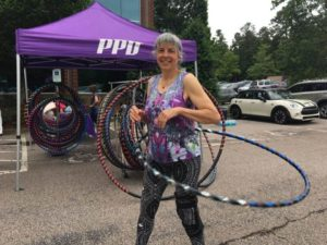 Hooping at the PPD Morrisville Wellness Expo on May 24.